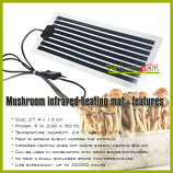 Infrared Mushroom Grow kit Heating Mat